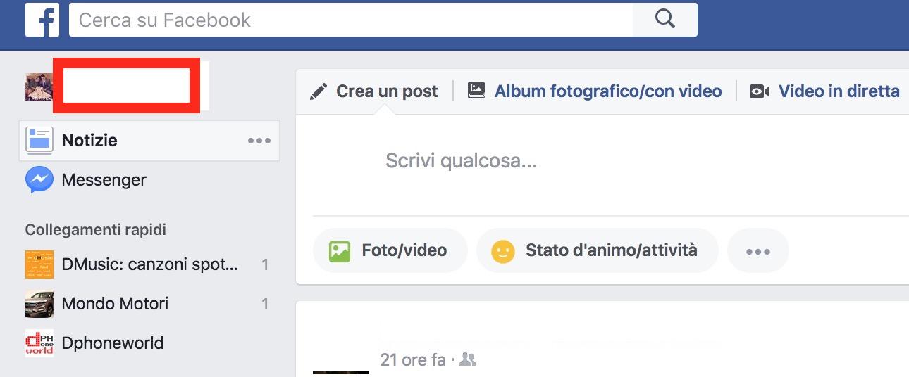 facebook amici iphone lista nascondere