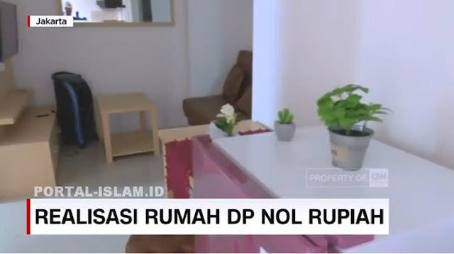 Anies Pamer Rumah DP 0 Yang Sudah Tahap Akhir Siap Huni, Kolam Langsung Mendidih