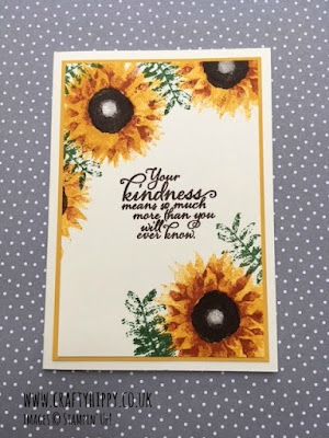 Take a look at this easy to make sunflower card by Stampin' Up!