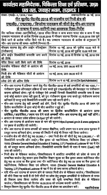 KGMU UP NEET Merit List 2018 MBBS BDS Counselling