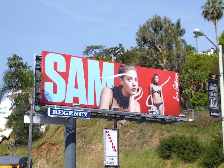 Jenna Kelly Sam Edelman lingerie S17 billboard