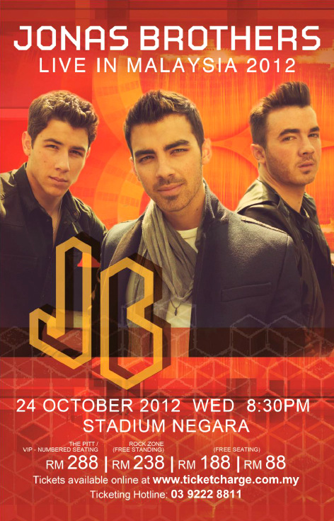 Jonas Brothers Live In Malaysia 2012 Concert Ticket Giveaway