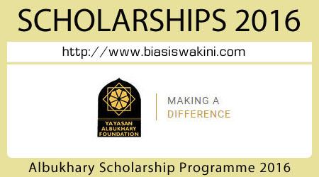 Albukhary Scholarship Programme 2016