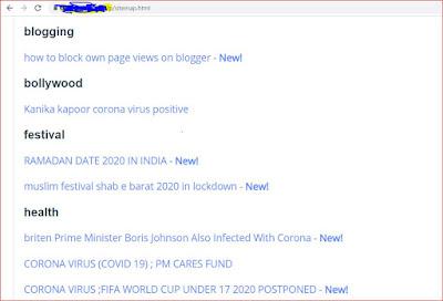 blogger me sitemap page kaise banayen