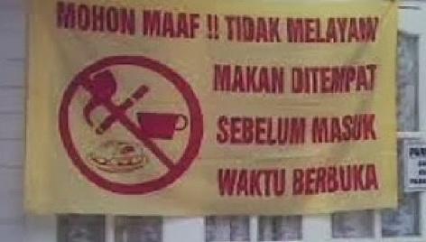Di Negara Asia Ini, Non Muslim Dilarang Makan Di Rumah Makan Pada Jam Puasa