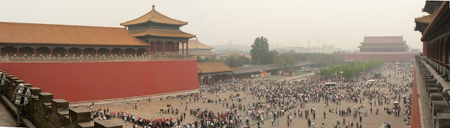 Forbidden City view looking down