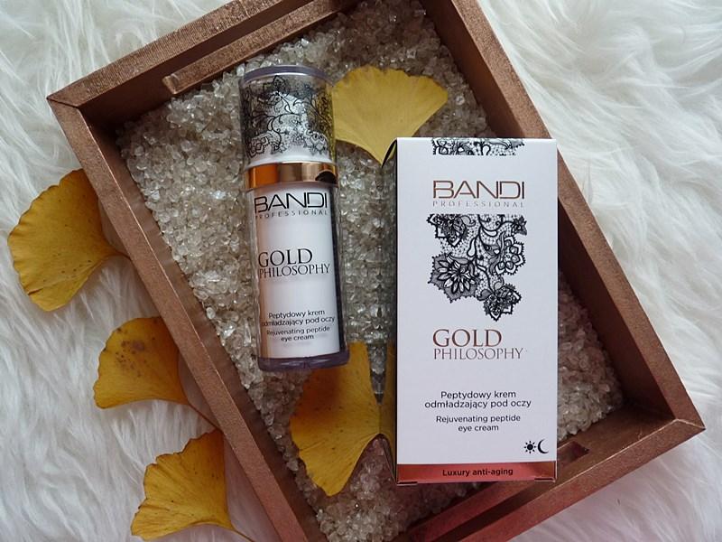 Bandi  Gold Philosophy Peptydowy krem odmładzający pod oczy - mój hit pielęgnacyjny