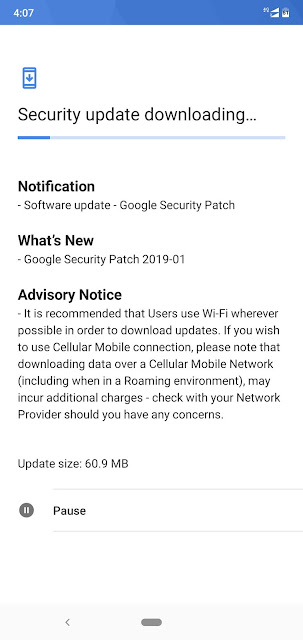 Nokia 6.1 plus receiving January 2019 Android Security update