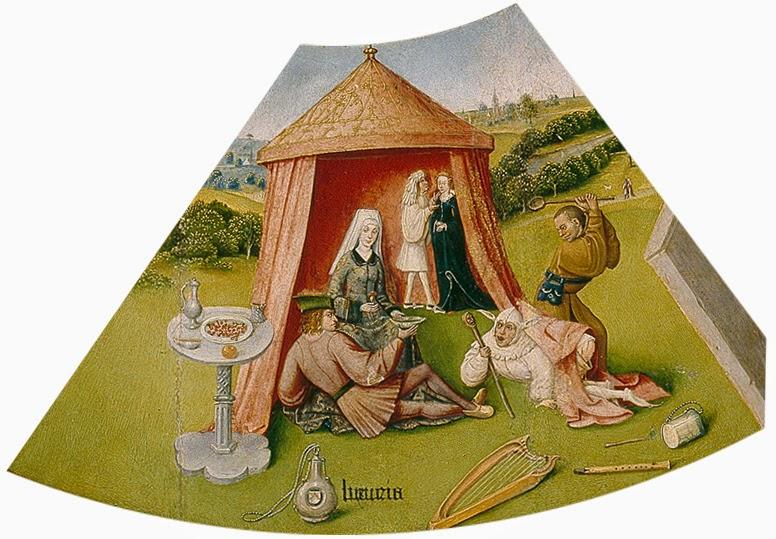 El Bosco - Mesa de los pecados capitales - La lujuria