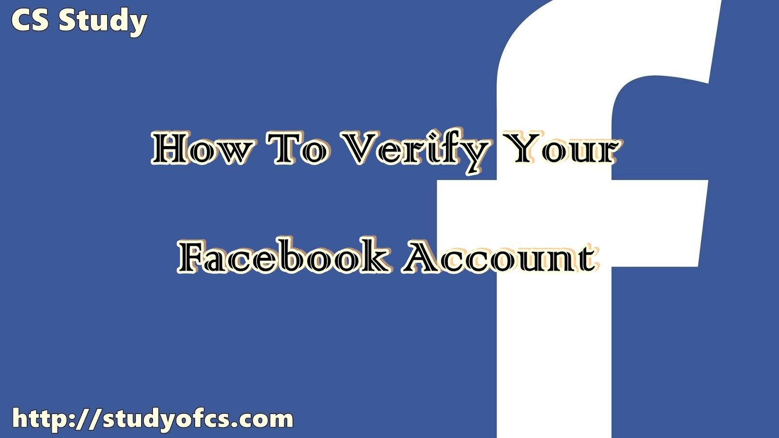 Do Fb How I Account My Verify
