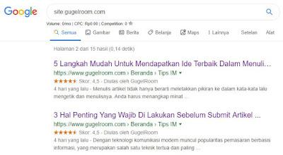 Cara Membuat Rating / Bintang Blog di Google untuk Blogger