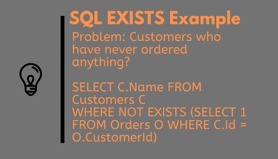 How to use EXISTS Clause in SQL? A Real World SQL Query Example using EXISTS