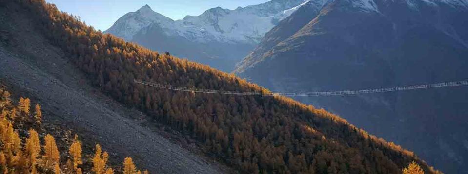 Thụy Sĩ đưa vào hoạt động cầu treo đi bộ dài nhất thế giới