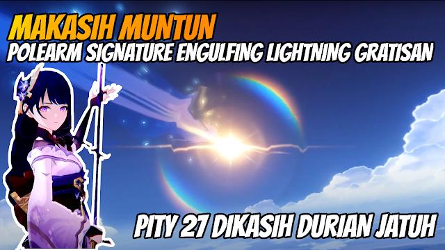 Spin Engulfing Lightning Polearm Gak Sengaja Pity 27 Genshin