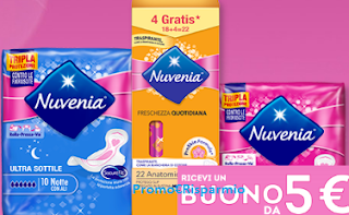 Logo Nuvenia ti regala buoni spesa da 5 euro