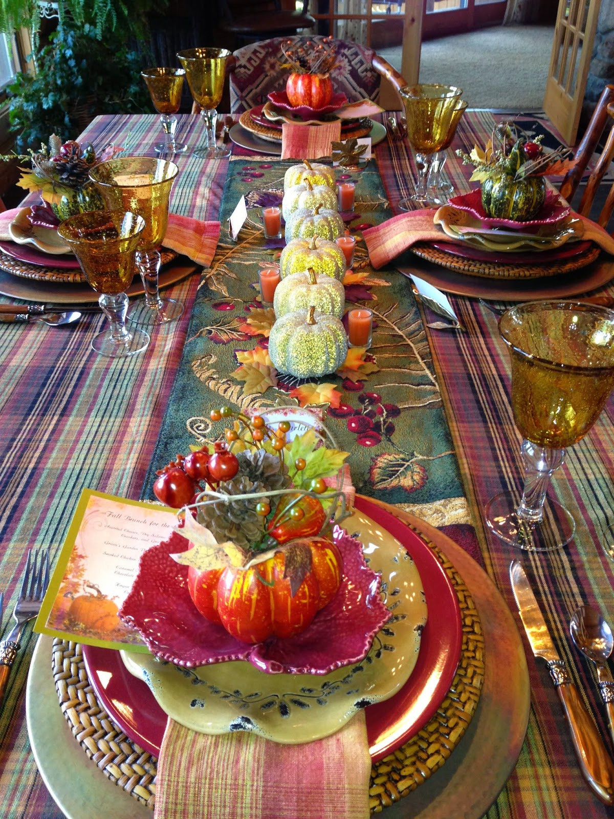 A Graceful Table A Fall Luncheon For The Girls