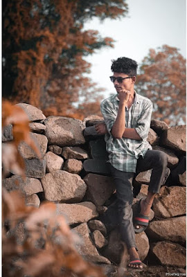 Stylish Photo Pose For Boys In Garden