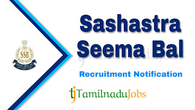 SSB Recruitment notification 2020, govt jobs in India, central govt jobs, govt jobs for 10th pass,