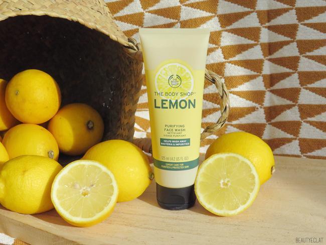 the body shop nettoyant visage purifiant citron avis