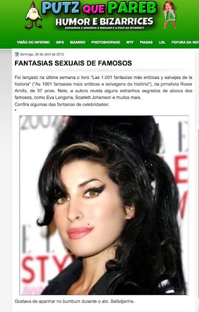 PUTZQUEPAREBA   FANTASIAS SEXUAIS DE FAMOSOS