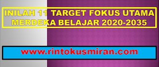 INILAH 11 TARGET FOKUS UTAMA MERDEKA BELAJAR 2020-2035