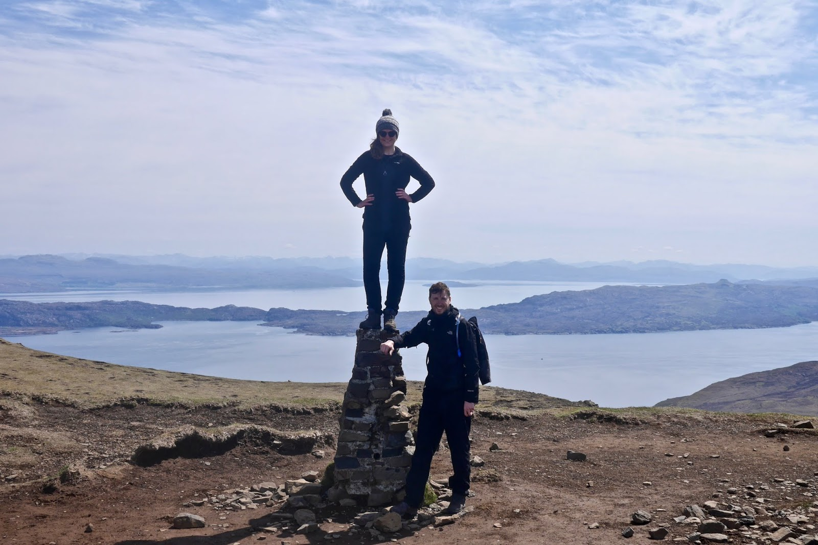 Old man of Storr, isle of Skye , Almost Chic and Cal McTravels during their Scottish Island Hopping in the outer Hebrides