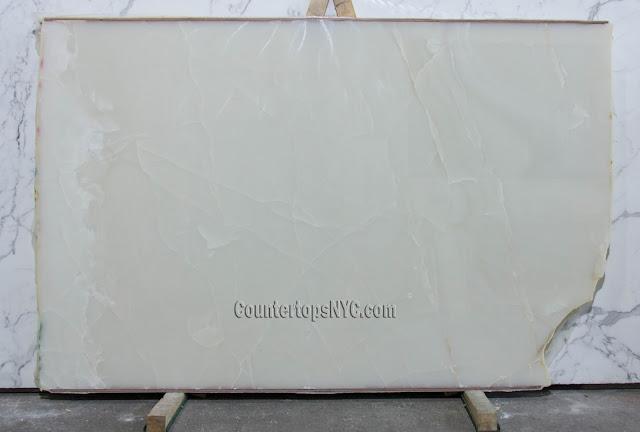 White Onyx Marble Slabs NYC
