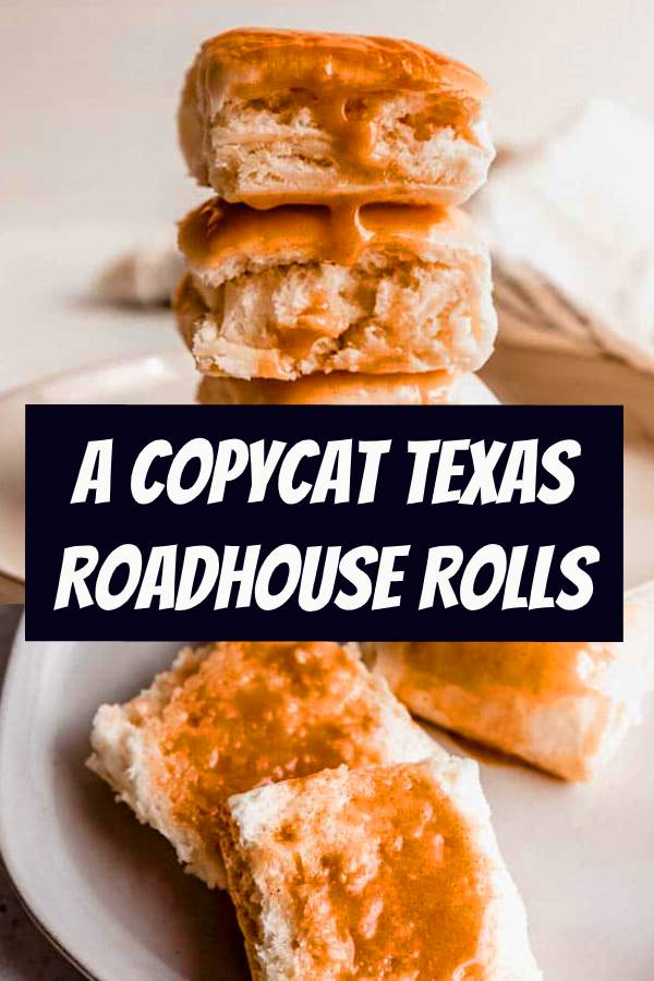 This easy Copycat Texas Roadhouse Rolls recipe smeared with Cinnamon Honey Butter is just like the restaurant's, and is melt-in-your-mouth delicious side dish! #copycatrecipes #copycat #cinnamon #butter #sidedish