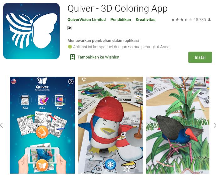 Quiver, game AR untuk anak