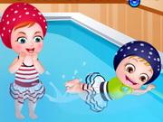 العاب بيبي هازل في المسبح
