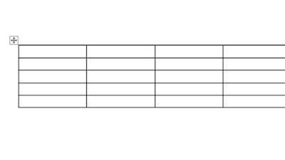 Cara Menggeser Tabel di Word Menggunakan Mouse
