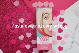 Joanna Color Spray pastelowy różowy