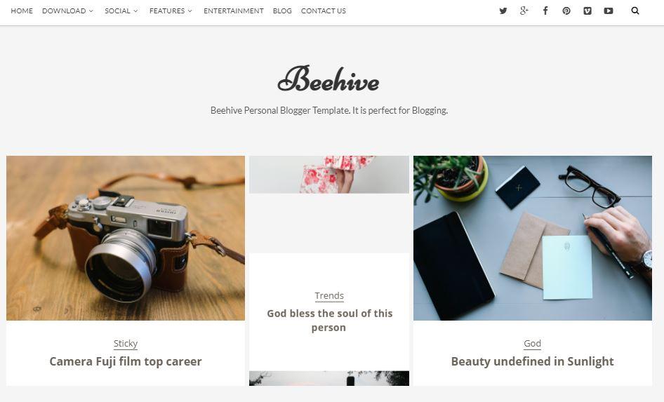 Beehive-premium-version-responsive-blogger-template-free-download