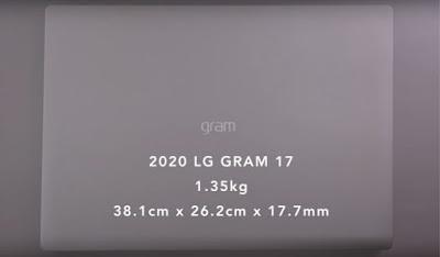 LG Gram 2020: Lightest Laptop in the World