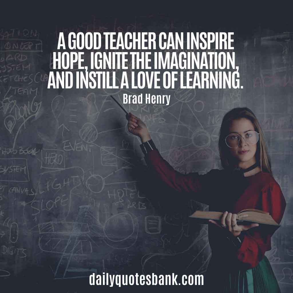 Inspirational Quotes For Teachers Appreciation