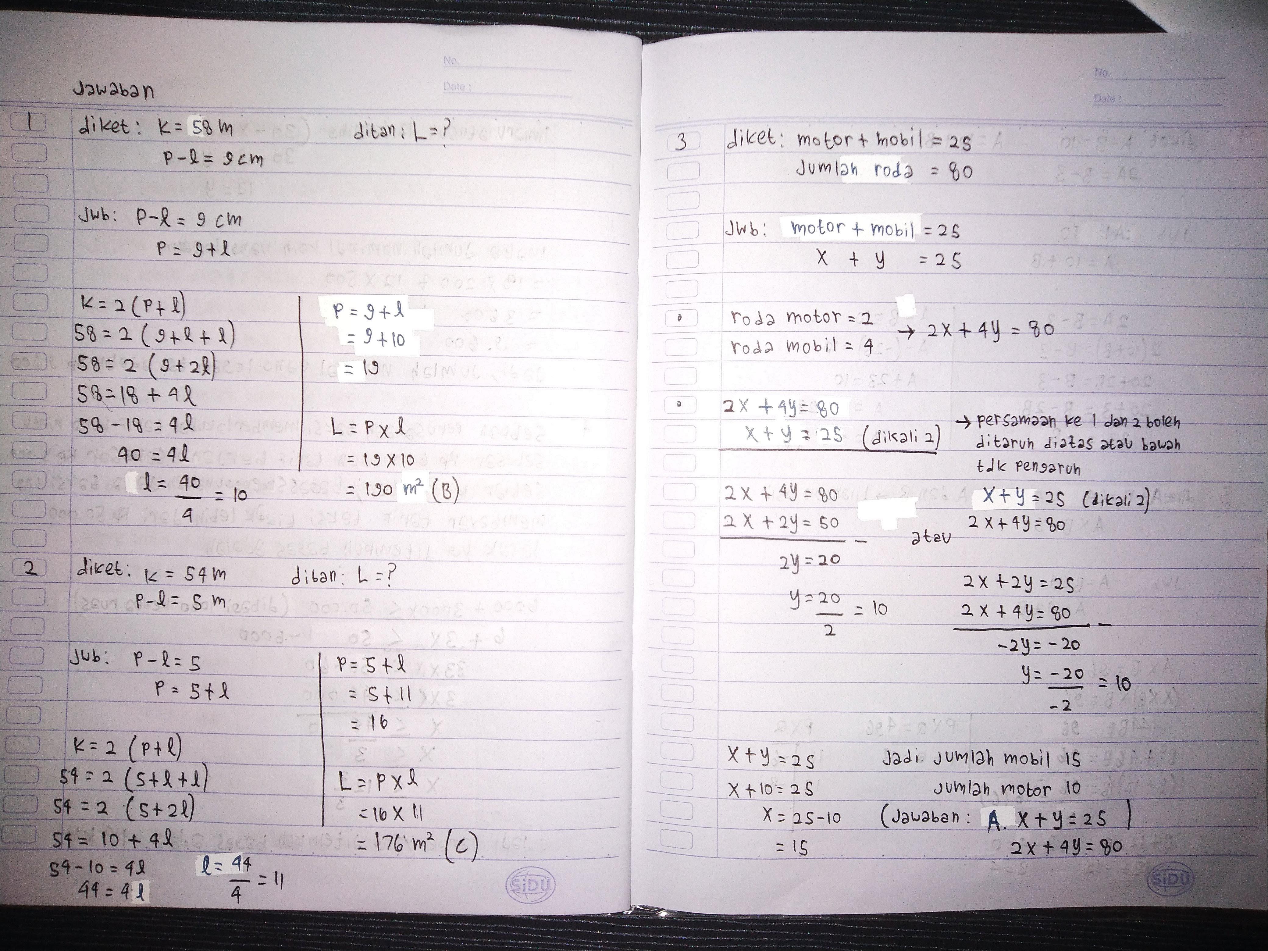 Soal latihan matematika kelas 9 bab persamaan