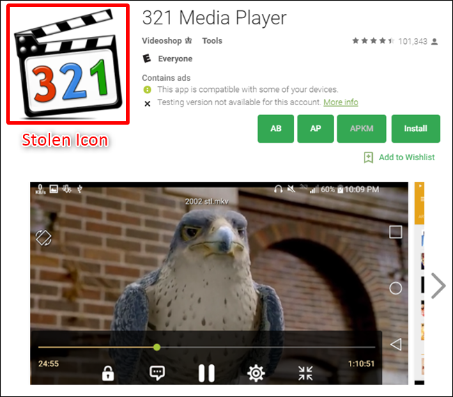 Media Player Android Fake