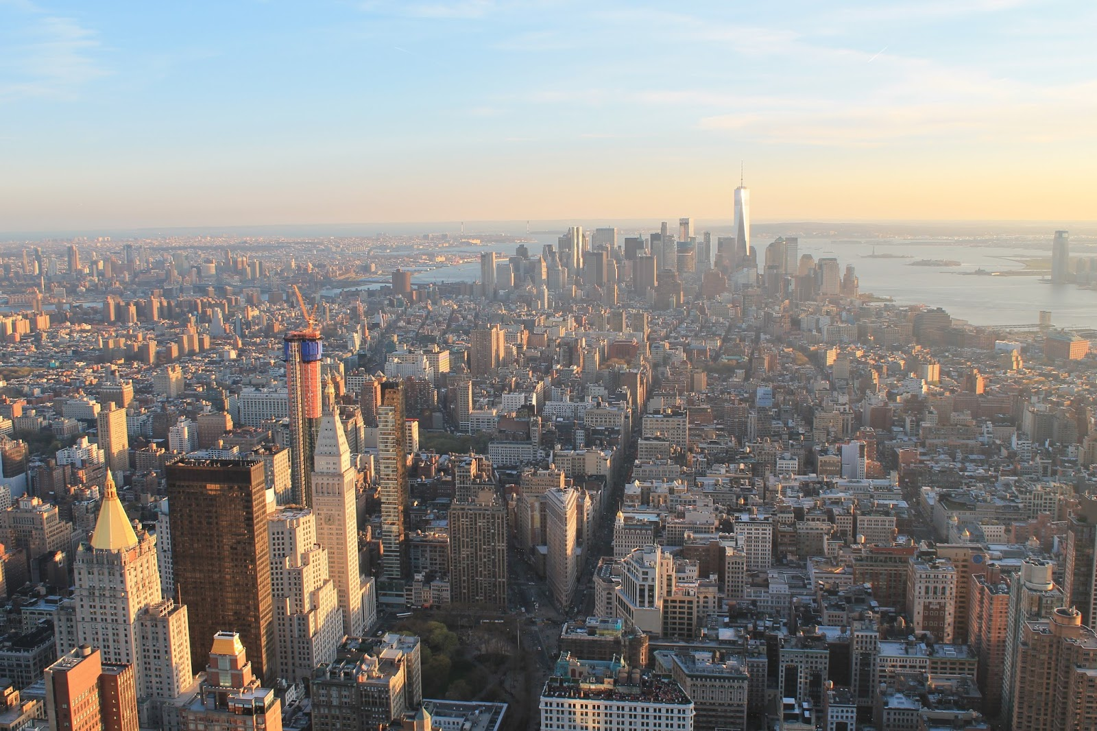 usa, nyc, new york, city, empire state building, top, vue, panorama, panoramique, coucher de soleil, sunshine, soleil, voyage, trip2live, road trip, holidays, airbnb, ceetiz