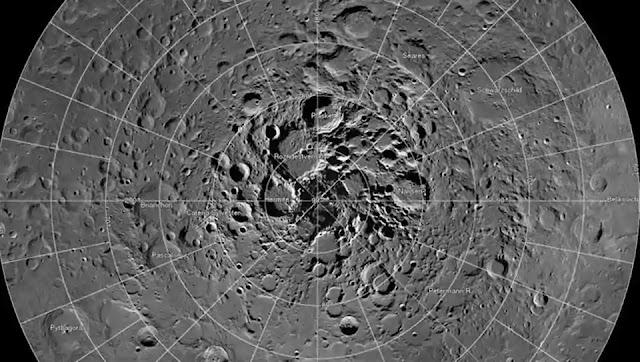 mosaic of the moon's north polar region
