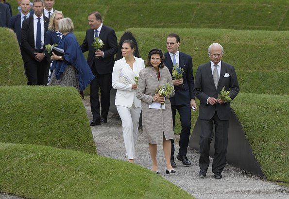 Queen Silvia, Crown Princess Victoria and Prince Daniel attended the inauguration of the 2004 Indian Ocean Tsunami Memorial at Royal Park
