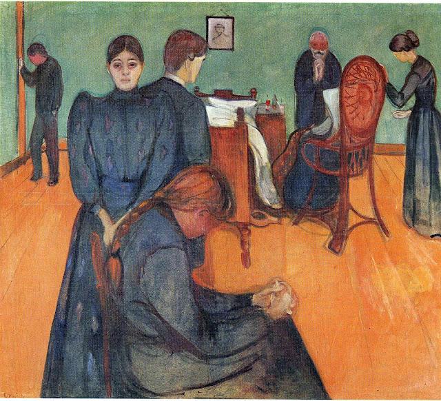 Эдвард Мунк - Смерть в комнате больного. 1893