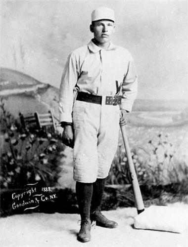Imagen del jugador sordo de béisbol profesional Dummy Hoy