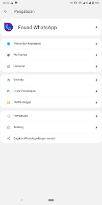 Fouad WhatsApp Official (Anti Banned) Versi Terbaru