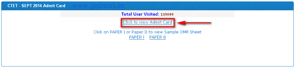 download ctet september 2014 admit card