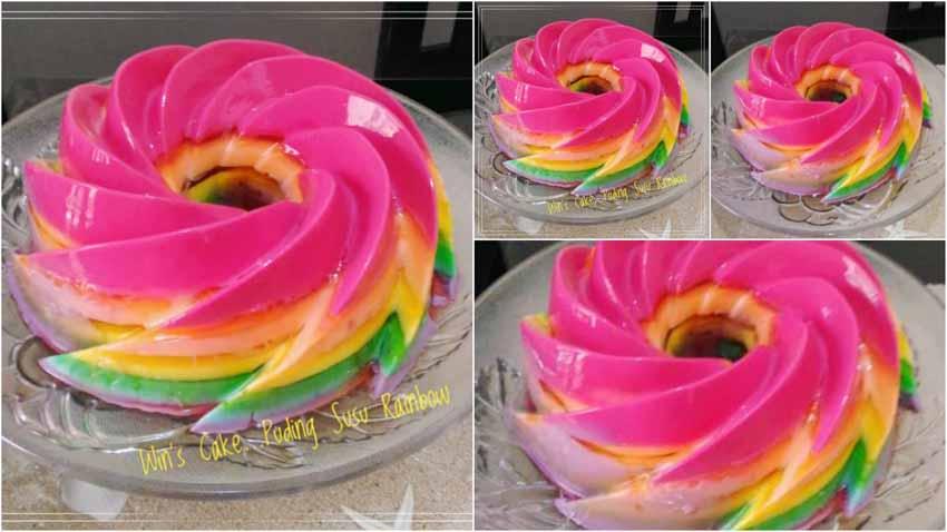 Resep Membuat Puding Susu Rainbow by Defa Ade Faruq