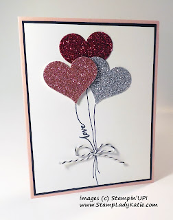 Card made with Stampin'UP!'s Hello Life stamp set and Heart Shaped Balloons