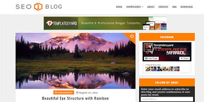SEO optimized Blogger Template