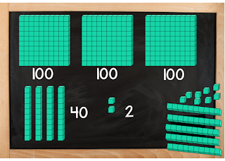 Base Ten Blocks 342 - Teaching in the Heart of Florida blog post - A Place Value Game Your Students Will Beg You to Play
