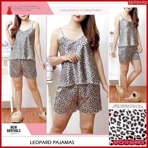 SPC219P85 Piyama Set Leopard Satin Baju Tidur Wanita | BMGShop