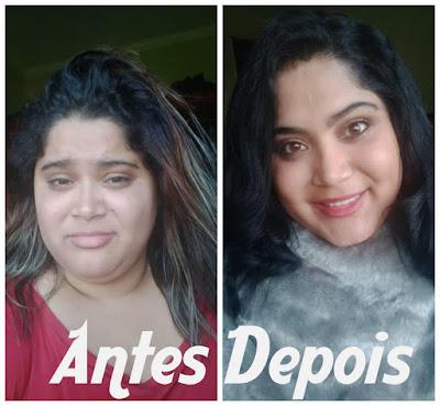 Antes e depois Coloração 1.0 Jabuticaba Alfaparf Alta moda